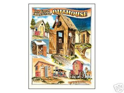 AMERICAN OUTHOUSE TIN SIGN METAL ADV AD SIGNS A