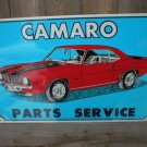 CAMARO PARTS SERVICE TIN SIGN METAL ADV CAR SIGNS C