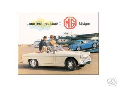 MG MIDGET MARK ll TIN SIGN METAL ADV CAR AUTO SIGNS M