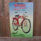 MONARK SUPER DELUXE BICYCLE TIN SIGN METAL ADV SIGNS F