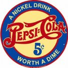 PEPSI COLA ROUND TIN SIGN METAL SODA POP ADV SIGNS P