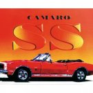 CAMARO CONVERTIBLE SS TIN SIGN METAL CAR ADV SIGNS C