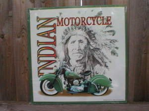 INDIAN MOTORCYCLES TIN SIGN METAL ADV SIGNS I