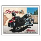 INDIAN MOTORCYCLE TIN SIGN METAL ADV SIGNS I