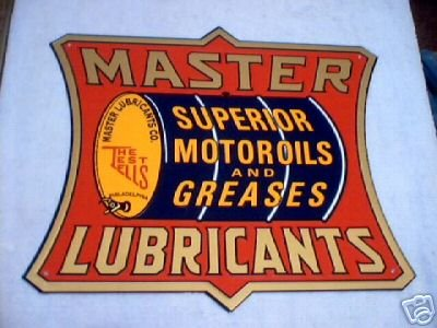 MASTER LUBRICANTS TIN SIGN METAL ADV SIGNS M