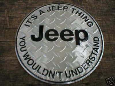 JEEP ALUMINUM ROUND SIGN METAL BAR HOME CAFE CAR SIGNS