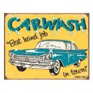 CARWASH BEST HAND JOB IN TOWN TIN SIGN METAL SIGNS C