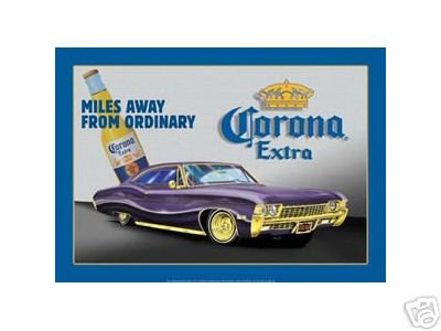 CORONA EXTRA CAR TIN SIGN METAL ADV AD SIGNS C