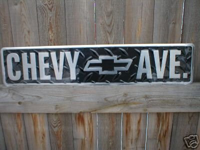 CHEVY AVE. TIN SIGN METAL RETRO ADV AD SIGNS C