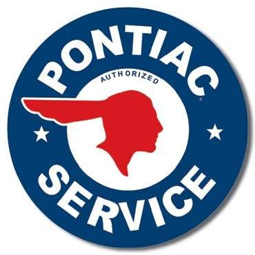 PONTIAC SERVICE TIN SIGN METAL RETRO ADV SIGNS P