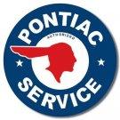 PONTIAC SERVICE TIN SIGN METAL RETRO ADV SIGNS P