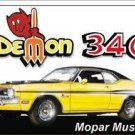 DEMON 340 MOPAR MUSCLE TIN SIGN RETRO METAL ADV SIGNS D