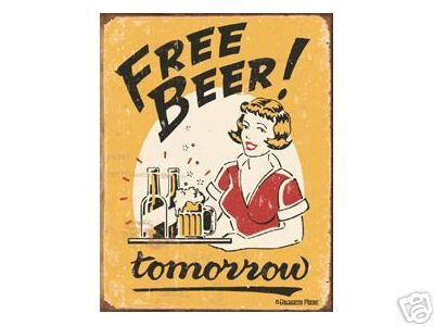 FREE BEER TIN SIGN RETRO ADV BAR CAFE METAL SIGNS F