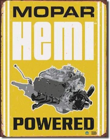 HEMI POWERED TIN SIGN RETRO METAL ADV SIGNS H