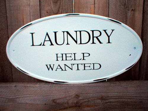 LAUNDRY HELP WANTED OVAL TIN SIGN METAL ADV AD SIGNS L