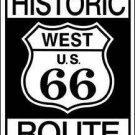 HISTORIC ROUTE 66 TIN SIGN RETRO METAL ADV SIGNS H