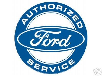 AUTHORIZED FORD SERVICE TIN SIGN METAL ADV CAR SIGNS F