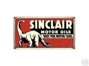 SINCLAIR MOTOR OILS TIN SIGN RETRO GASOLINE OIL SIGNS S