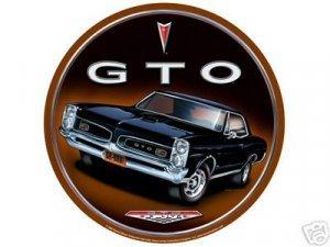 GTO ROUND TIN SIGN RETRO MUSCLE CAR AUTO ADV SIGN G