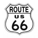 ROUTE US 66 TIN SIGN METAL ADV SIGNS R