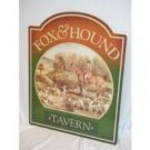 FOX & HOUND TIN SIGN RETRO METAL ADV AD SIGNS F