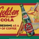 SUN-DROP GIRL IN CUP TIN SIGN METAL ADV AD SIGNS S
