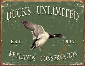 DUCKS UNLIMITED TIN SIGN METAL RETRO ADV SIGNS D