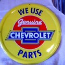CHEVROLET PARTS ROUND SIGN METAL ADV AD SIGNS C