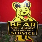 NEW BEAR WHEEL ALINEMENT SIGN COLLECTOR ADV AD SIGNS B