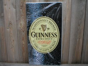 GUINNESS EXTRA STOUT TIN SIGN METAL ADV BEER SIGNS G