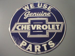 GENUINE CHEVROLET PARTS TIN SIGN METAL SIGNS NR S