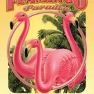 FLAMINGO PARADISE GRILL TIN SIGN METAL ADV AD SIGNS F