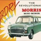 MORRIS MINI-MINOR TIN SIGN RETRO METAL ADV SIGNS M
