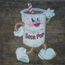 SMALL DANCING SODA POP RETRO TIN SIGN METAL FOOD BAR SIGNS