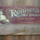 RENNER'S HOT CHOCOLATE TIN SIGN RETRO METAL ADV SIGNS R