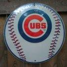 CHICAGO CUBS ROUND ALUMINUM BASEBALL SIGN C