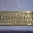 BRASS WINCHESTER GUN & CARTRIDGE SIGN  W