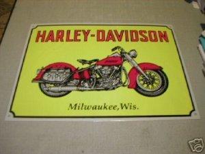 MILWAUKEE MOTORCYCLE METAL BIKE BAR SIGN TIN SIGN H