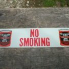 MOTORCYCLE OIL  NO SMOKING SIGN TIN SIGN METAL ADV SIGNS H