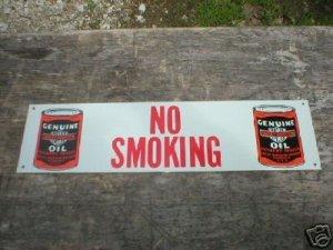 MOTORCYCLE OIL  NO SMOKING SIGN TIN SIGN METAL ADV SIGNS H