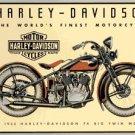 1933 MOTORCYCLE TIN SIGN PIC METAL BIKE BAR HOME SIGNS H