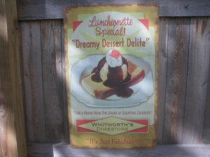 DREAMY DESSERT DELITE RETRO TIN SIGN DINER METAL SIGNS