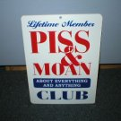 PI-- & MOAN CLUB PLASTIC ADV AD SIGN C