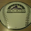 COLORADO ROCKIES BASEBALL SIGN METAL ADV AD SIGNS C