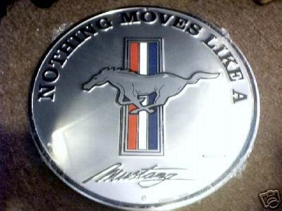 MUSTANG ROUND TIN SIGN FORD RETRO CAR AUTO ADV SIGN F