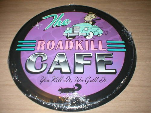 ROADKILL CAFE TIN SIGN METAL RETRO ADV SIGNS R