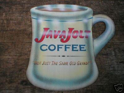 VINTAGE STYLE JAVA JOLT COFFEE TIN SIGN METAL BAR SIGNS