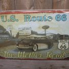US ROUTE 66 THE MOTHER ROAD TIN SIGN METAL ADV SIGNS M