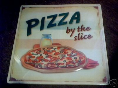 PIZZA BY THE SLICE METAL ADV SIGNS P