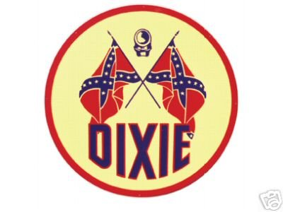 DIXIE LARGE HEAVY METAL SIGN